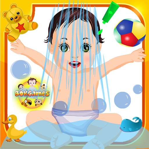 Kids Game: Garden Baby Bathing