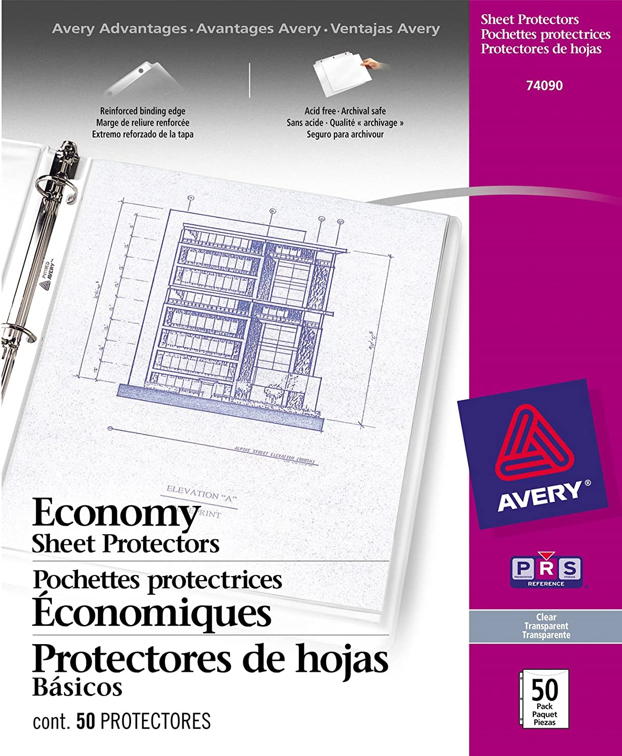Avery Acid Free Economy Sheet Protectors, Clear, Box of 50 (74090)