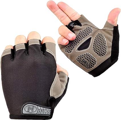 Summer Half Finger Mittens Bicycle Gloves Non slip Palm Riding Hand Gloves