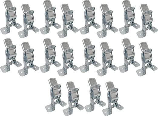 Metal Spring Grip Clamps Clips for Garage Closet Wall Organizer, Tool Rack
