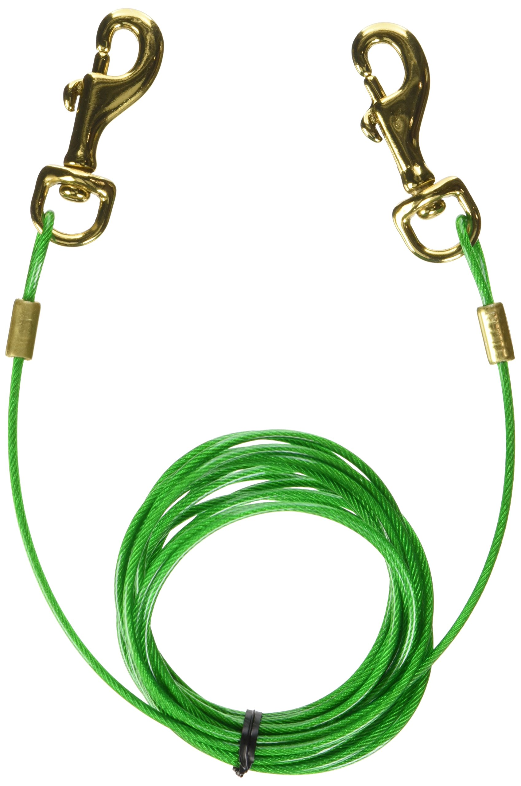 Titan Puppy Tie Out Cable Brass Plate Snaps
