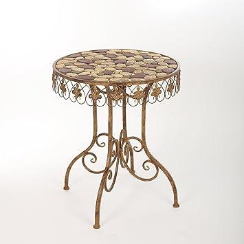 Gartentisch Tisch Metalltisch Eisentisch Mosaiktisch Garten Metall ...