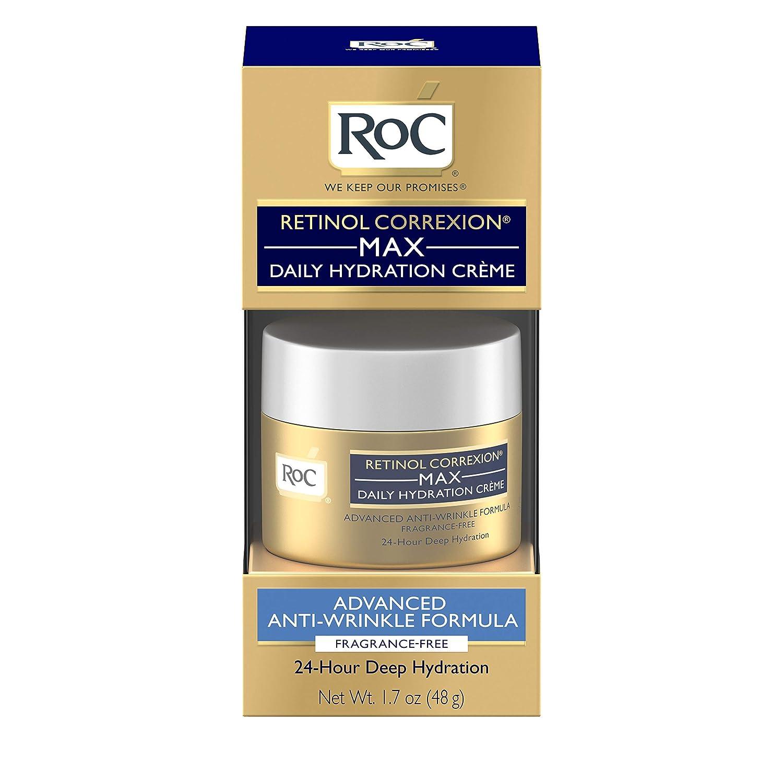RoC Retinol Correxion Anti-Aging Crème for 24-Hour Deep Hydration, Advanced Anti-Wrinkle Moisturizer Made with Retinol & Hyaluronic Acid 1.7 oz