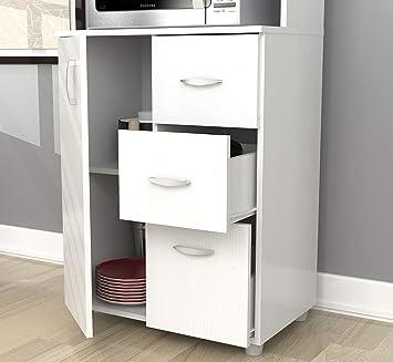 Amazon.com: Inval América larcinia-white Mueble de cocina ...