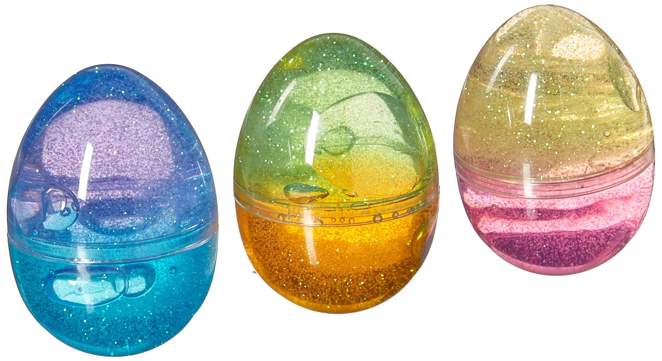 U.S. Toy (1696) Assorted Color Glitter Putty Eggs - Pack of 12