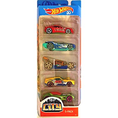 Hot Wheels 2020 City 50th Anniversary 5-Pack (Torque Twister, Prototype H-24, Bone Speeder, Twinduction, and Ballistick): Toys & Games