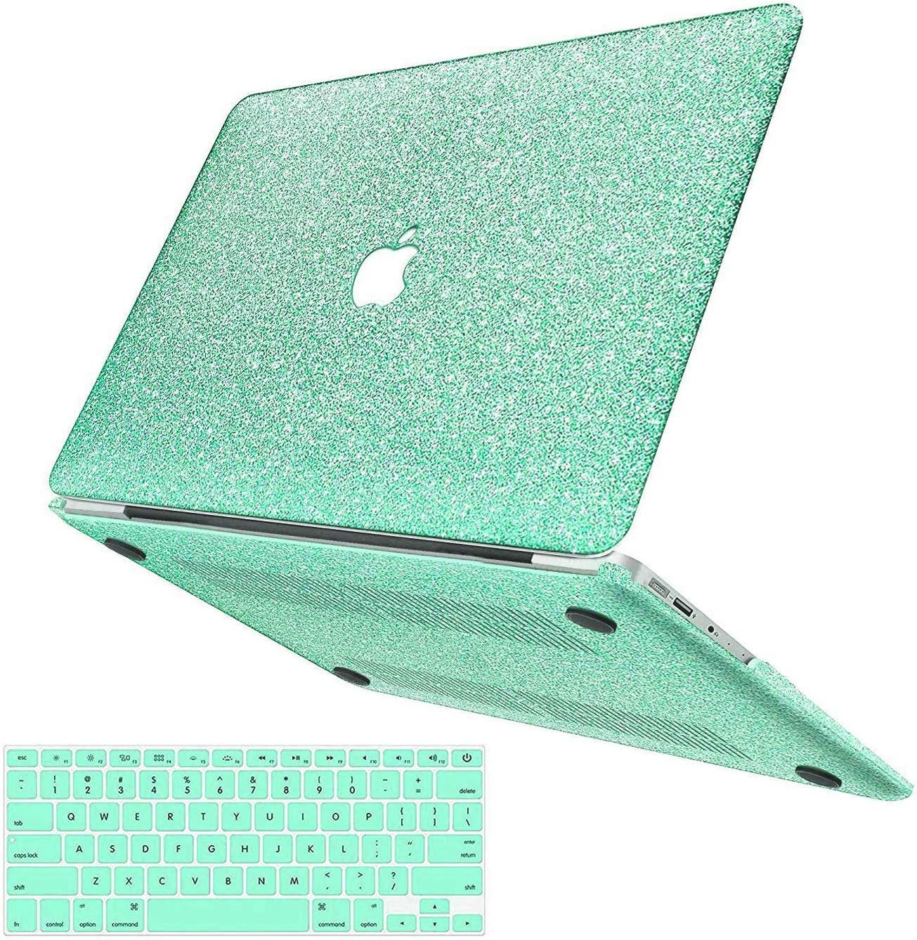 MacBook Air 13 inch Case,Anban Glitter Bling Smooth Protective Laptop Shell Slim Snap On Case with Keyboard Cover Compatible Mac Air 13