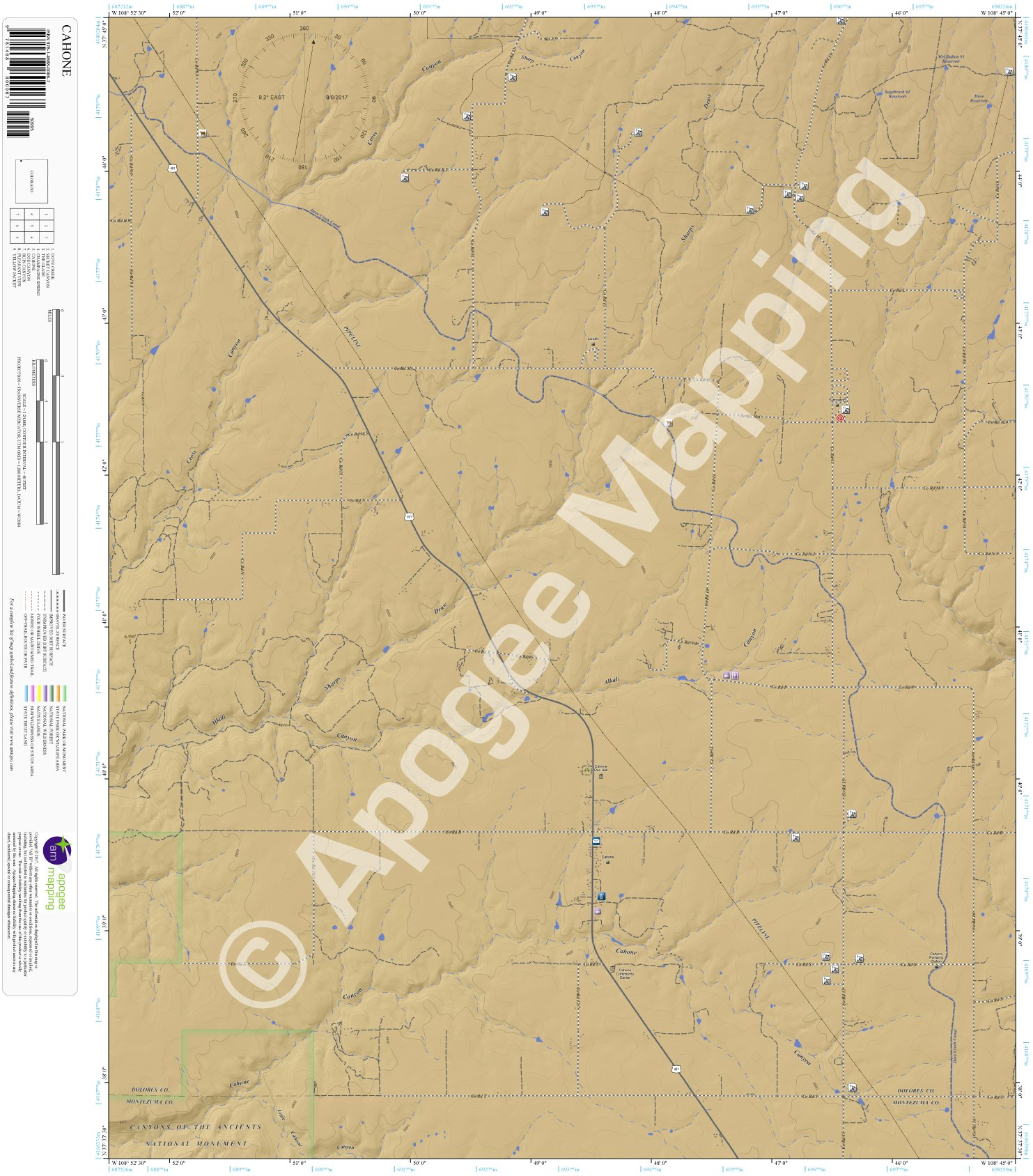 Download Cahone, Colorado 7.5 Minute Topographic Map - Waterproof Paper pdf