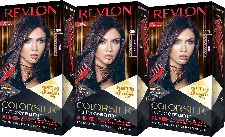 Revlon Colorsilk Buttercream Hair Dye Vivid Violet Black 3 Count Amazon Com Au Beauty
