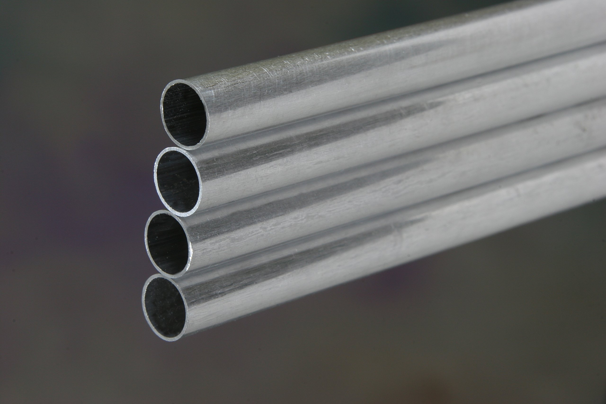 K&S Precision Metals 9315 Round Aluminum Tube, 3/8'' OD x 0.035'' Wall Thickness x 36'' Length, 4 pcs per Box, Made in USA