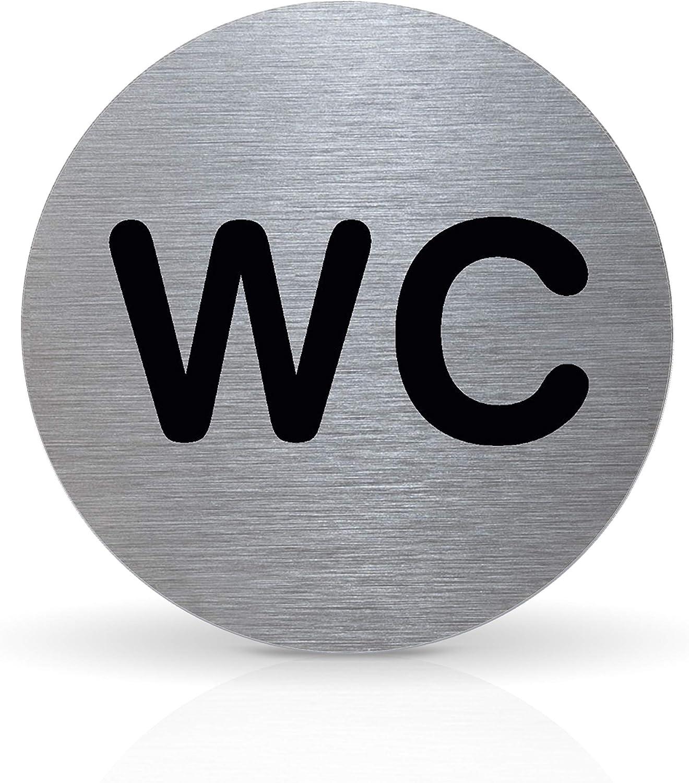 Tello T/ürschild Piktogramm Aluminium rund mit Klebepad /Ø 7,0 cm Herren