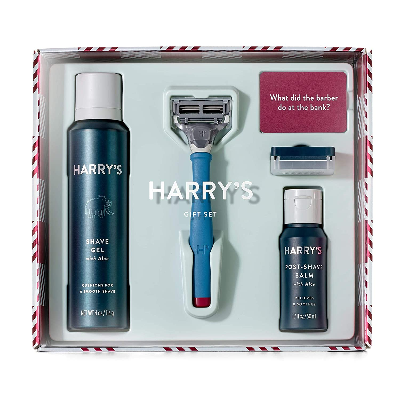 Harry's Holiday Gift Set - Razor Handle Blade Shave Gel Post Shave Balm