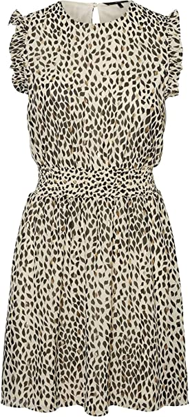 Vero Moda Vmpenny S//L Short Dress Wvn Vestito Donna