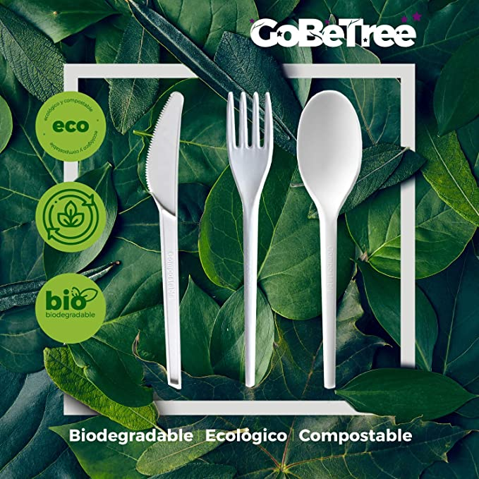 GoBeTree Cuchillos Desechables biodegradables de plástico ...