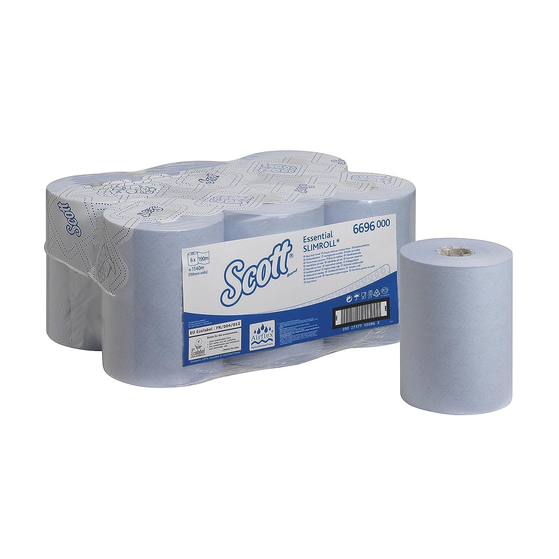 SCOTT* Essential SLIMROLL* Asciugamani a rotolo 6696-6 rotoli da 190 m 1 velo colore azzurro