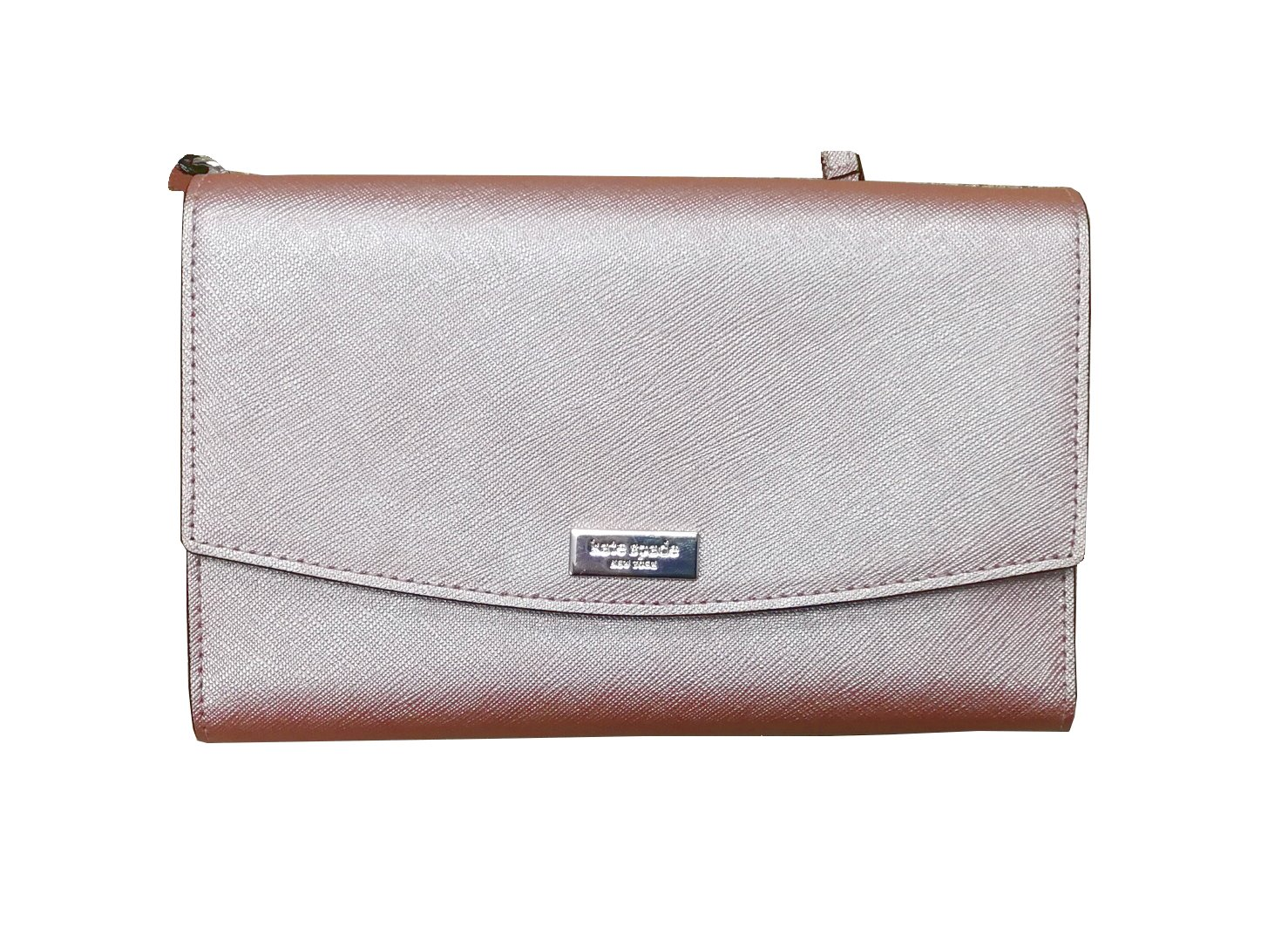 Kate Spade Laurel Way Winni Saffiano Leather Crossbody Clutch Wallet WLRU2667 Rose Gold