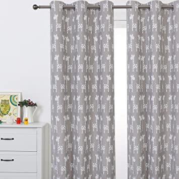 Curtains Ideas boys eyelet curtains : Amazon.com: Sherwood GIRAFFE Eyelet Curtain Blackout Grommet ...