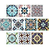 Comius Autoadhesivo Azulejos Decorativos en Vinilo, 10 Piezas