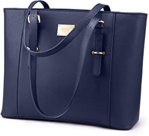 14-Inch Laptop Bag for Women, Professional Computer Bags - Laptop Purse with Padded Compartment - Fit Under Airplane Seat (Navy)