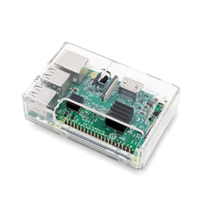LoveRPi Raspberry Pi 3 Model B+ Case with Direct GPIO Access - Clear  Transparent