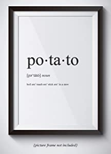 Lord Of The Rings Poster - Sam Gamgee Potato Definition Poster - Boil Em Mash Em Taters - 11x14 Unframed Print - Great Gift For Lord Of The Rings And Hobbit Fans