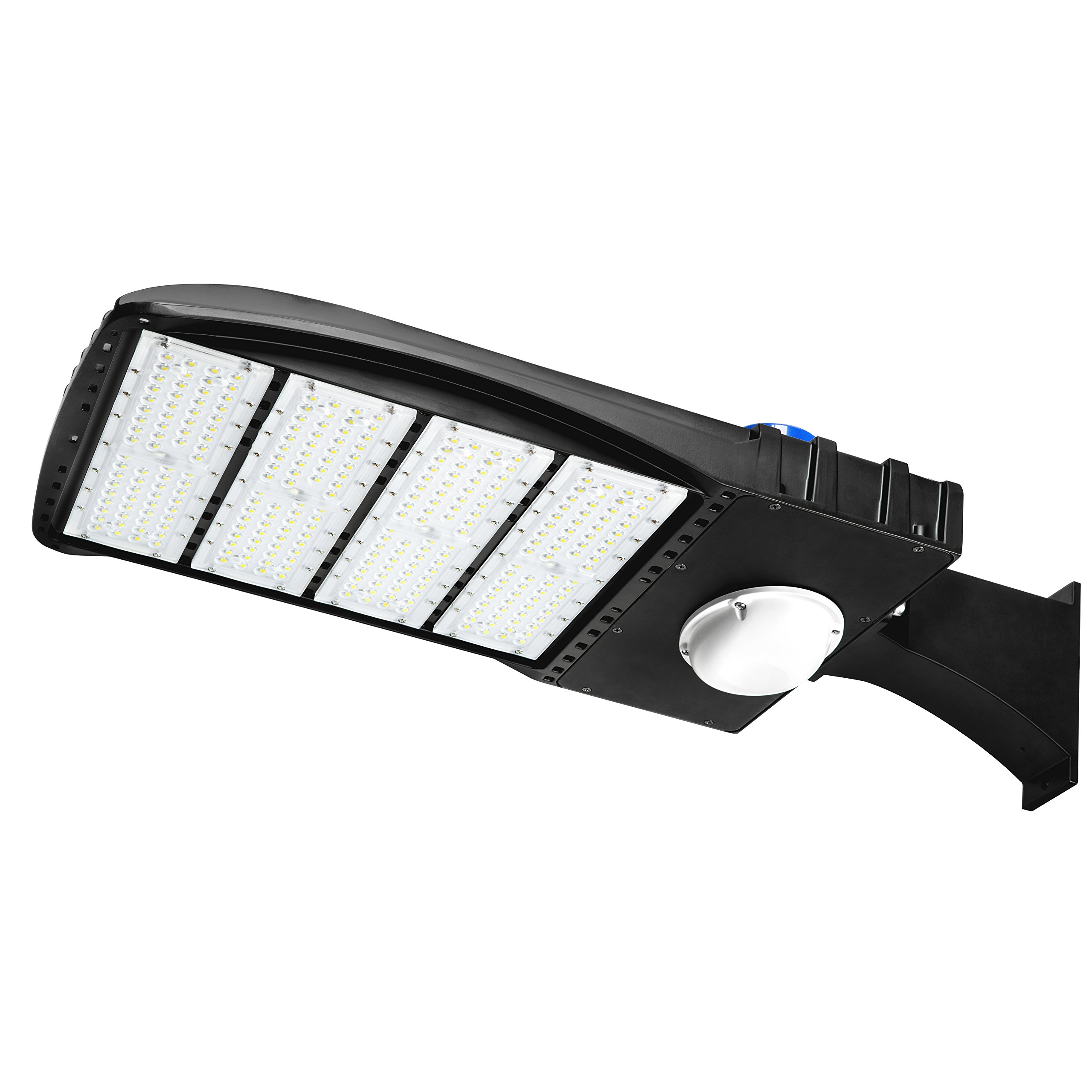 Hyperikon LED Shoebox Pole Light with Motion Sensor, 240W (HID/HPS Replacement) 5700K, 33000 Lumens, Photocell Street and Area Parking Lot Lights, UL, IP65 Waterproof