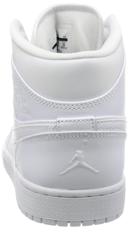Nike Air 11251 Air Jordan 1 Mid Zapatillas (White de Deporte para