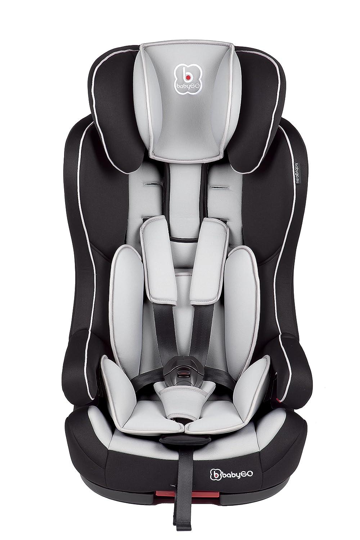 BabyGO Safe+ Isofix Kinderautositz Side Protection Gruppe I/II/III (9-36kg) grau 3701