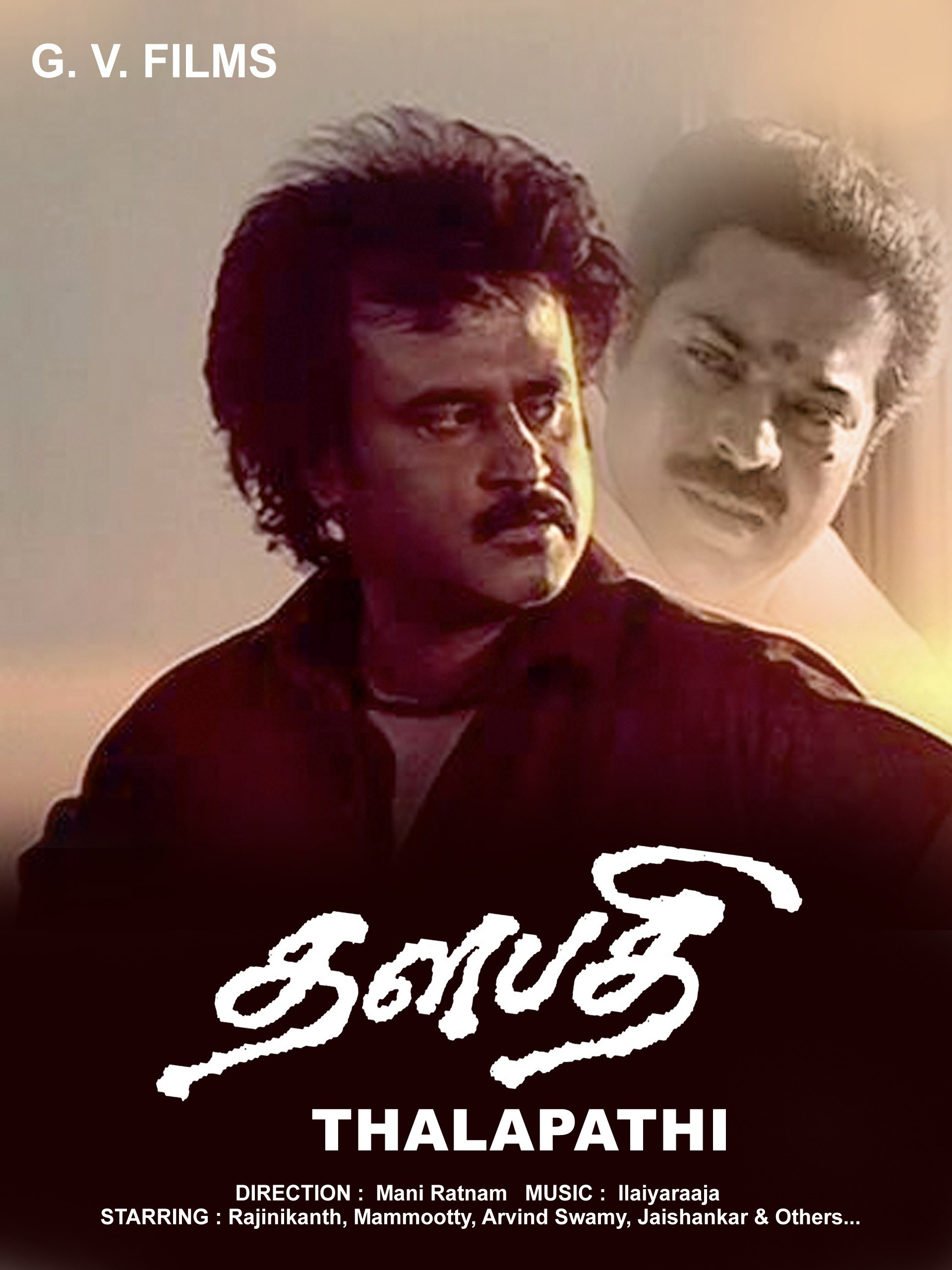 Image result for Thalapathi – Rajinikanth, Mammootty movie poster