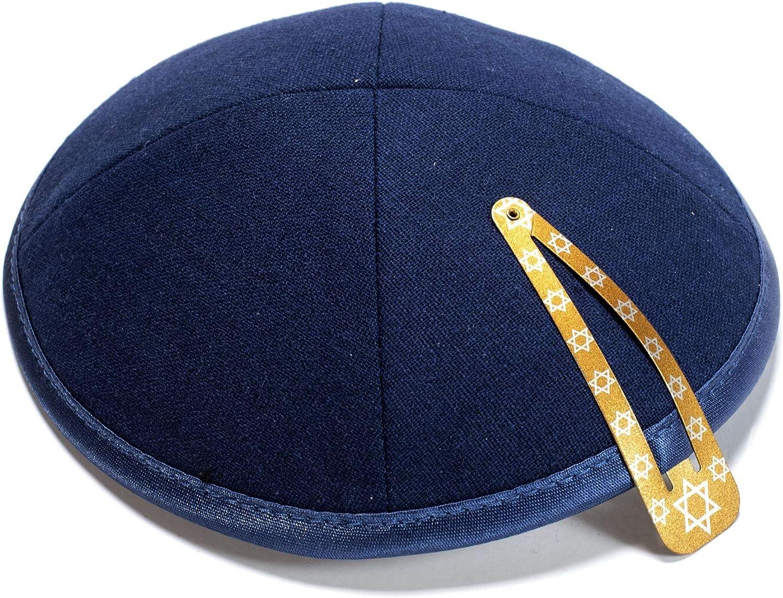Comfy for Celebrating, Beautifully Breathable KIPPIK Linen Kippah Hat for Men /& Kids Yamaka Kippa Blue Star of David Soft