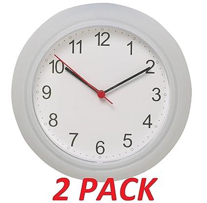 Amazon ikea wall clock white 2 pack 975 home kitchen ikea wall clock white 2 pack 975quot gumiabroncs Images