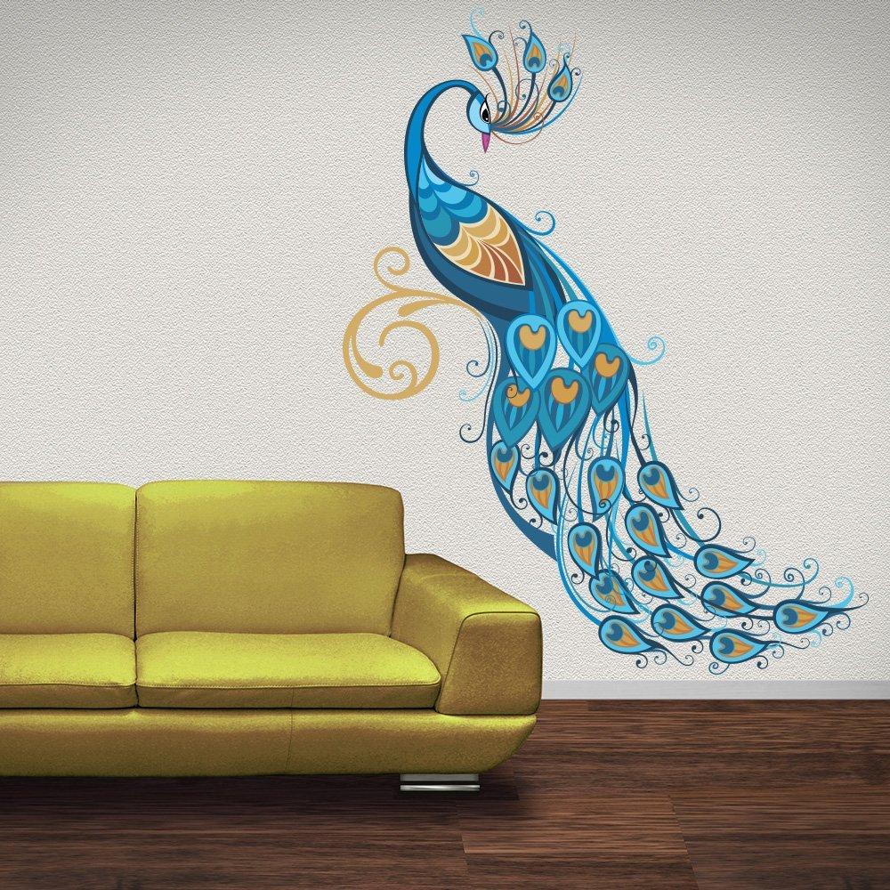 Peacock Wall Art Sticker