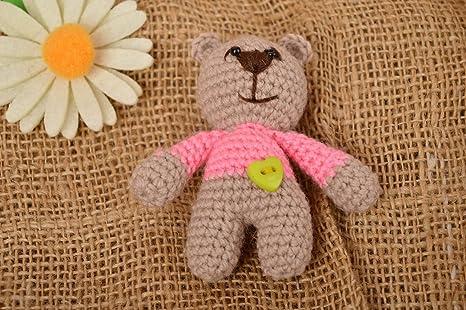 Juguete artesanal tejido a crochet peluche para ninos regalo original Osito