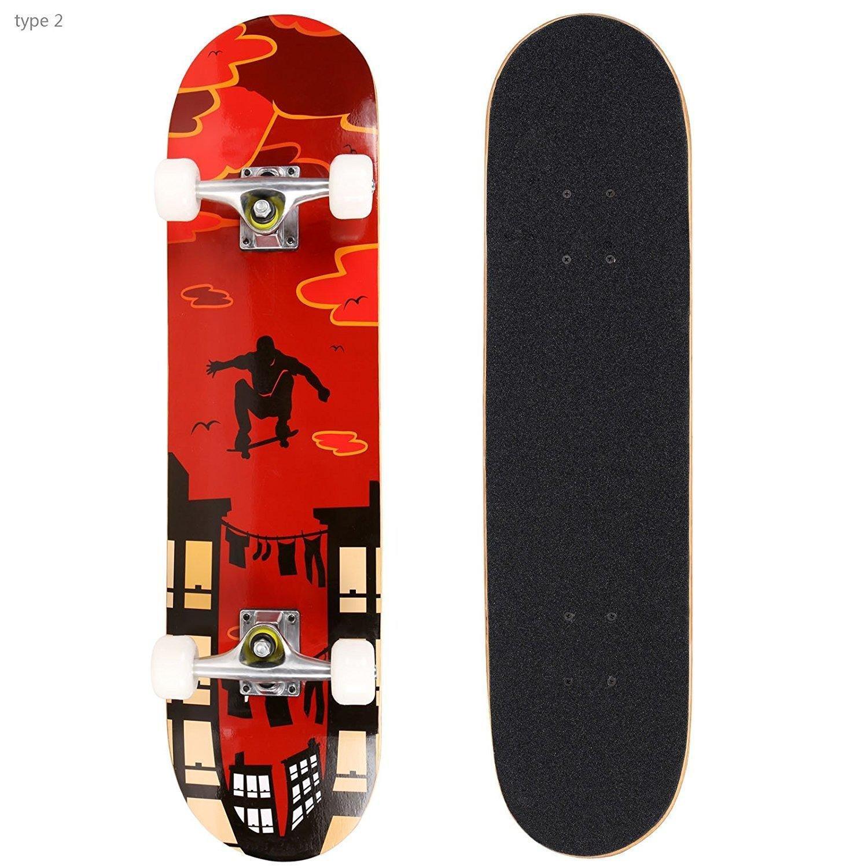 PEATAO 31 Cruiser Skateboard Retro Complete Wood Longboard for Beginner Adults Teen