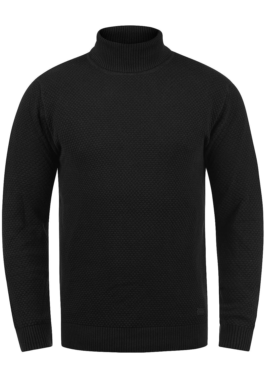 TALLA M. !Solid Karlos Jersey De Cuello Alto Jersey De Punto Suéter Sudadera De Punto para Hombre con Cuello Alto Doblado
