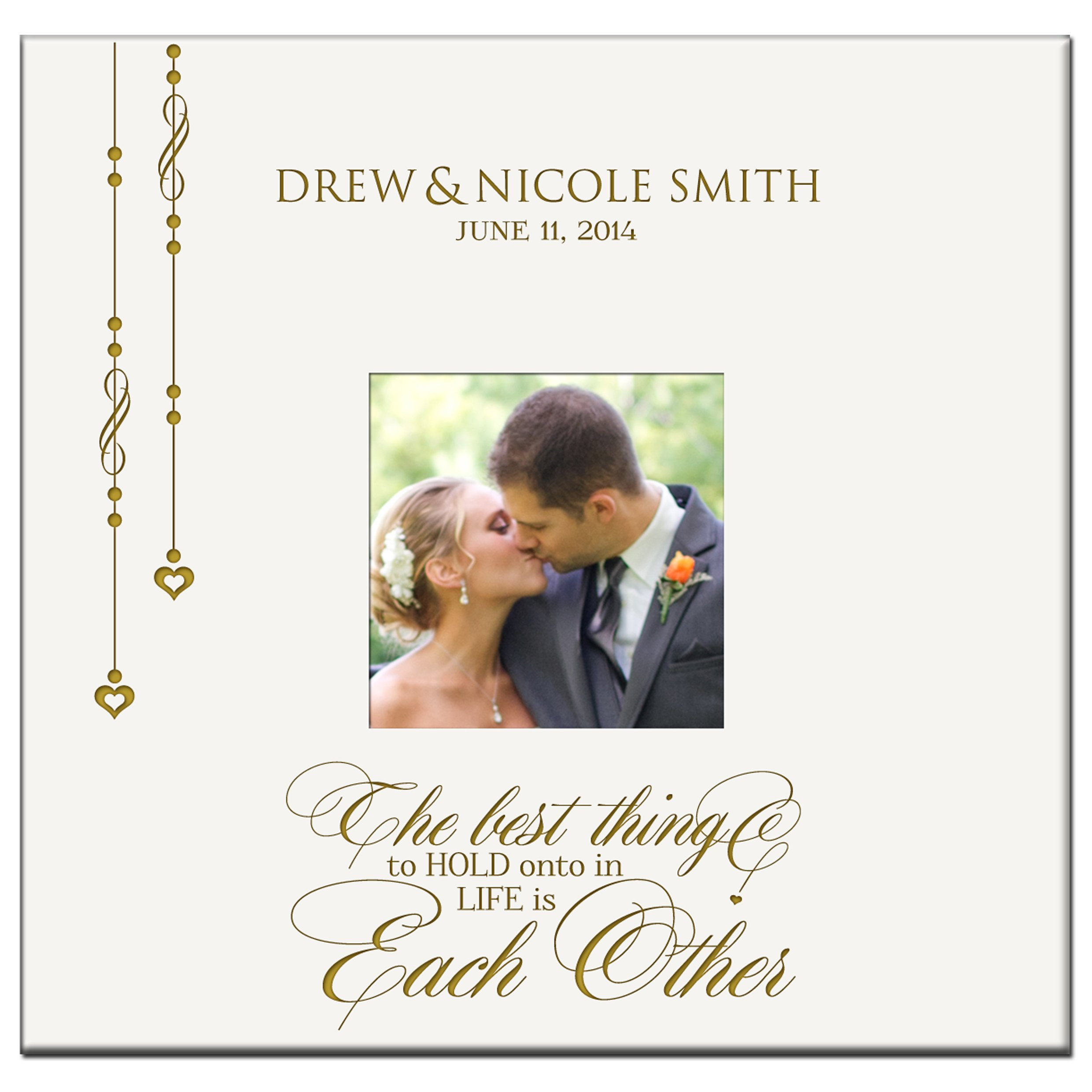 Personalized Mr & Mrs Wedding Anniversary Gifts Photo Album Custom Engraved the Best Thing to Hold Onto in Life Is Each Other Holds 200 4x6 Photos Wedding Gift Ideas By LifeSong Milestones
