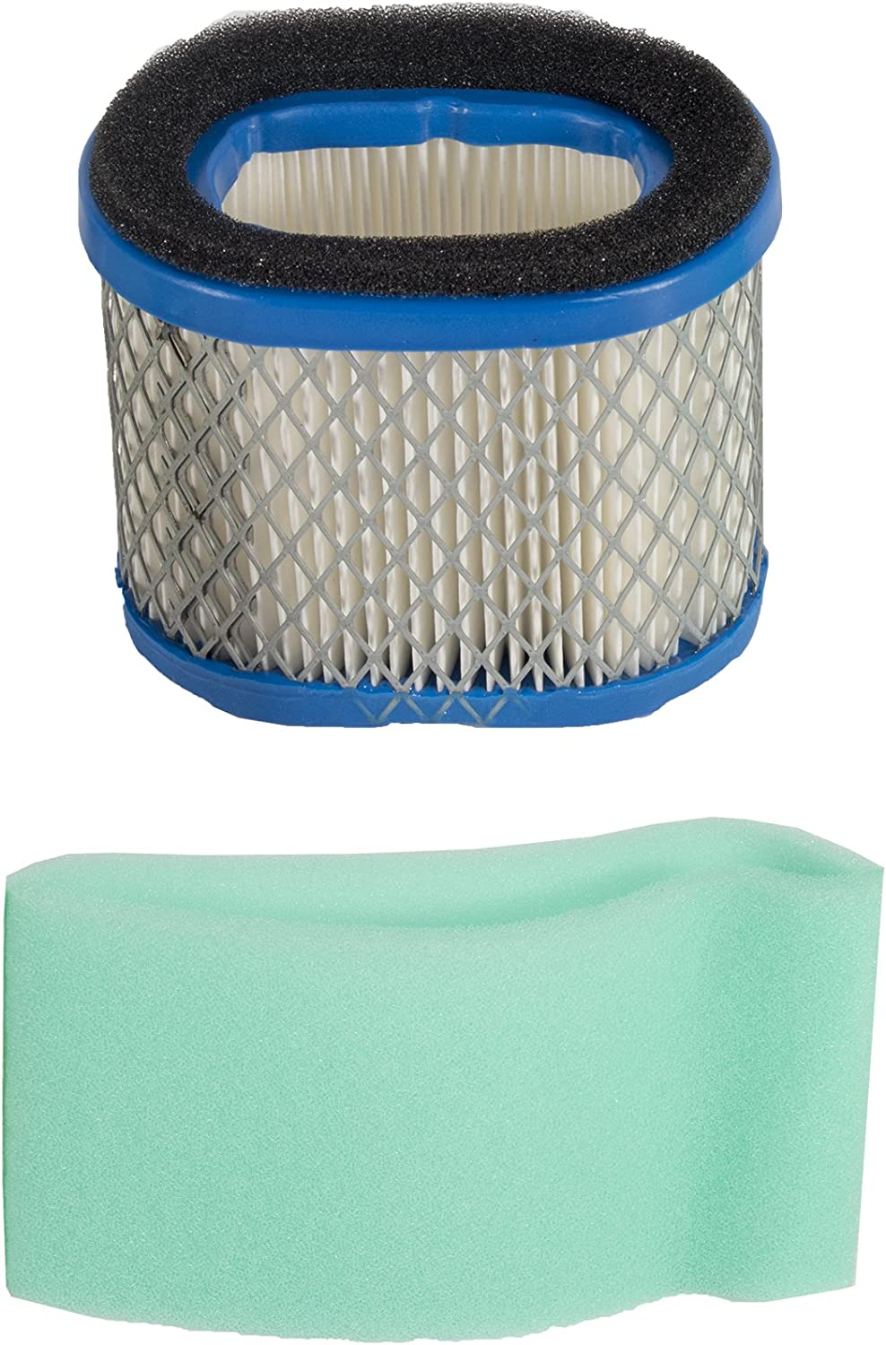 Maxpower 334363 Air Filter For Briggs & Stratton 5.5 - 6.5 HP Intek Engines Replaces 498596, 498596S, 690610, 697029 and John Deere M147431,White
