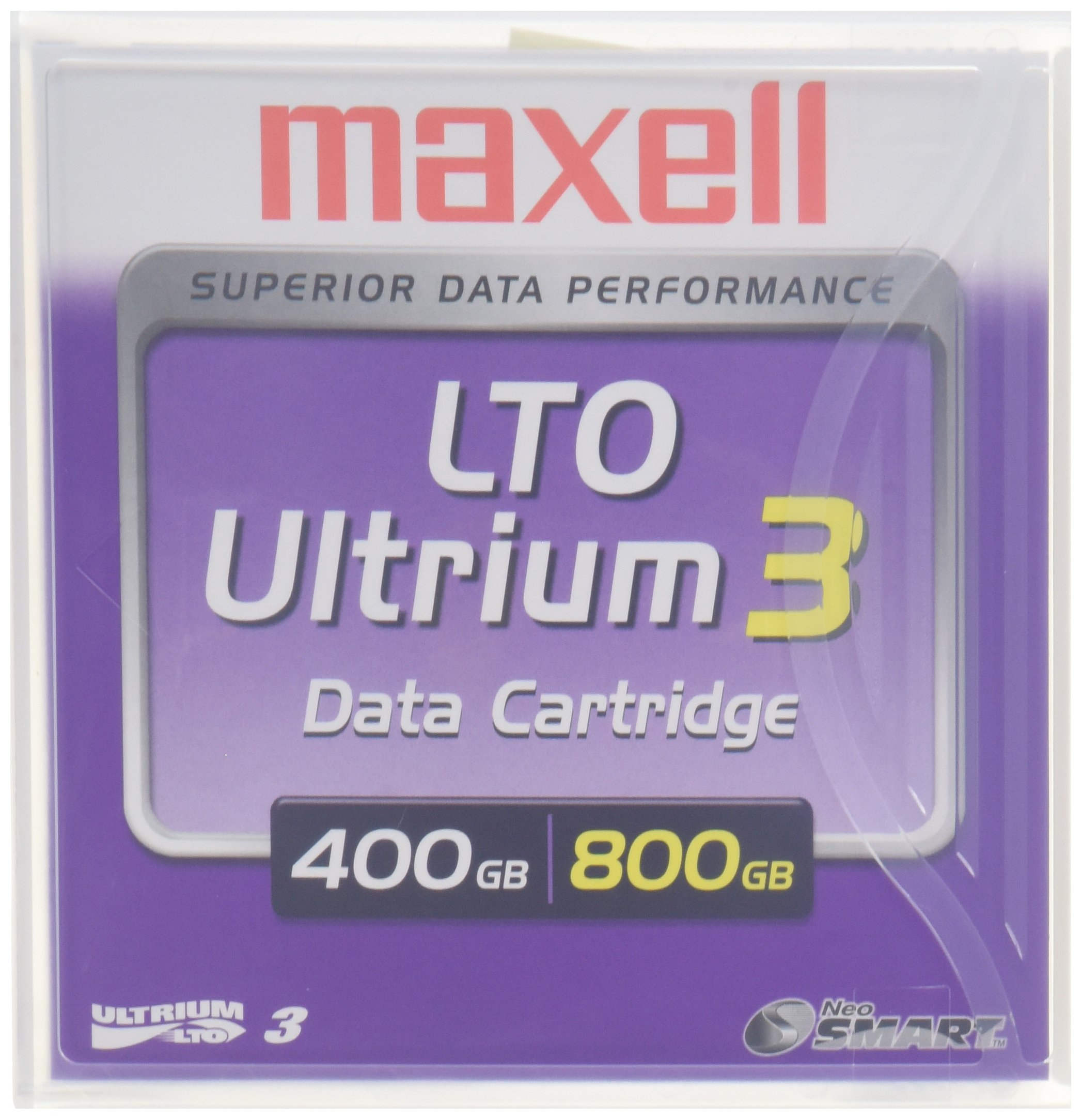 Maxell LTO Ultrium 3 400/800GB 1,000,000+ Head Passes Tape Cartridge by Maxell