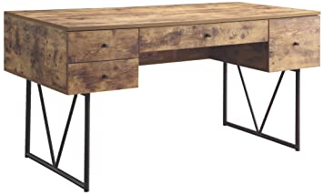 coaster 800999 home furnishings desk antique nutmegblack amazoncom coaster shape home office