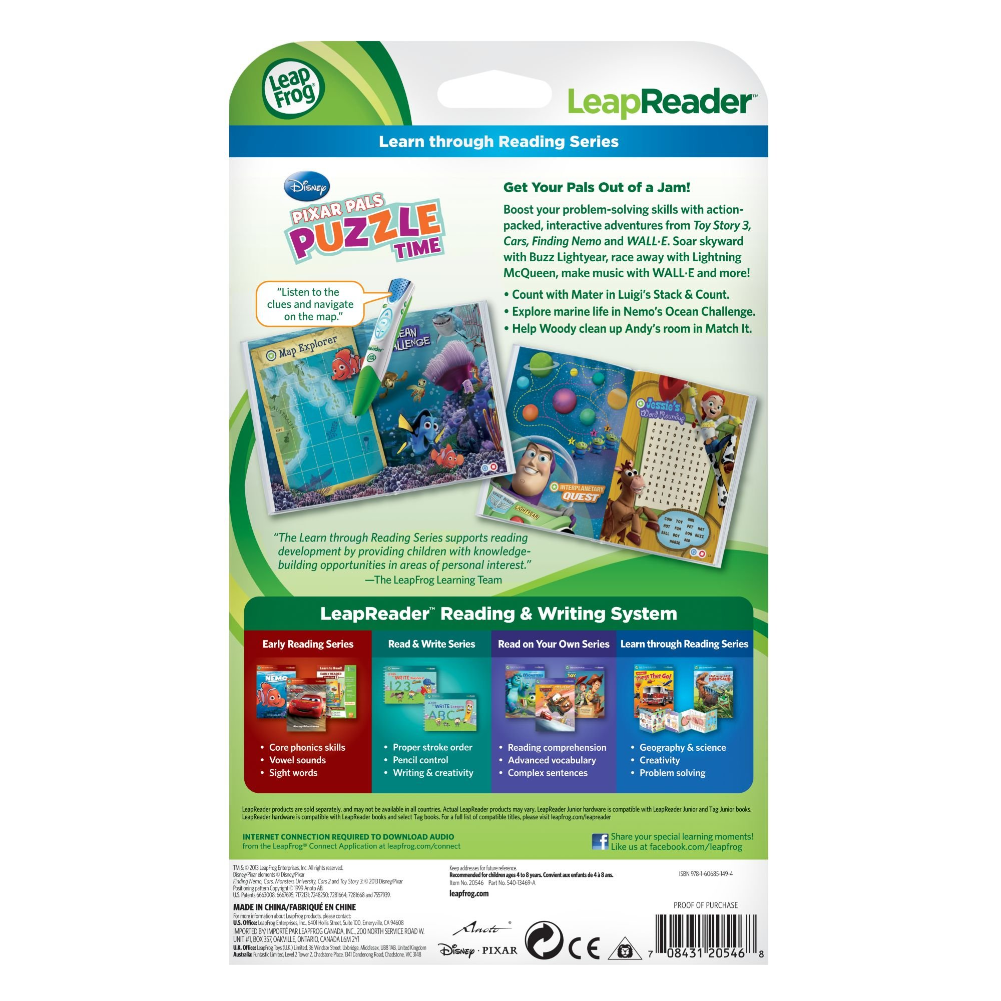 LeapFrog Tag Game Book: Pixar Pals Puzzle Time by LeapFrog (Image #5)