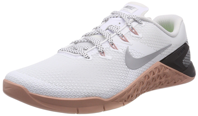 Nike Metcon 4 Womens Running Shoes (8) White/Metallic Silver by Nike