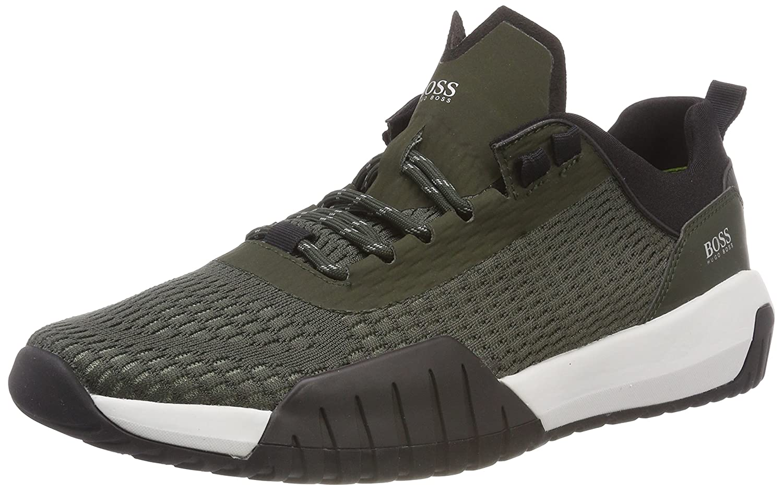 BOSS Athleisure Herren Storm_Runn_Act Sneaker Grun Dark Green 301