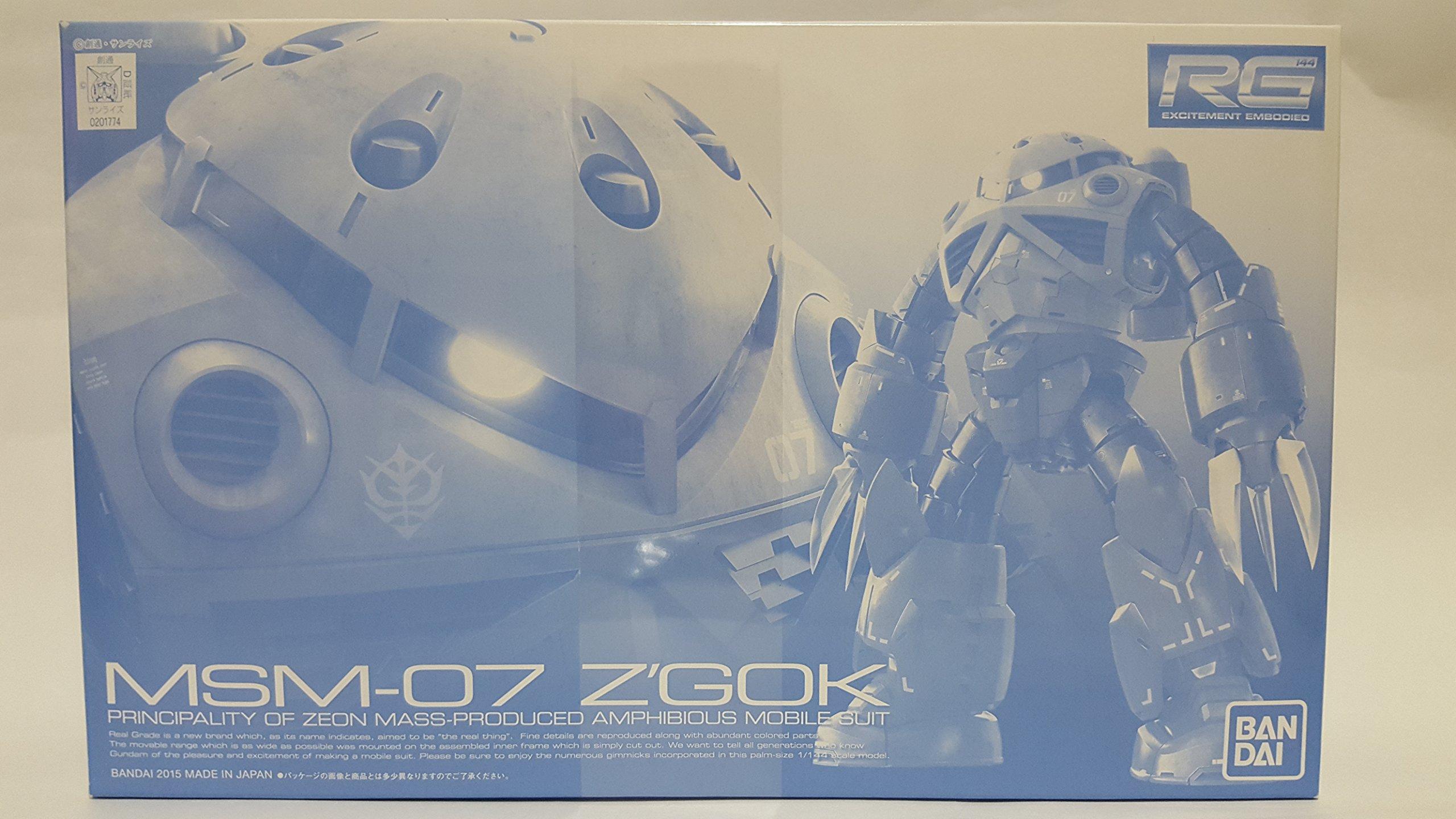 Bandai Hobby RG 1/144 MSM-07 Mass-Production Model Z'Gok (Plastic kit)