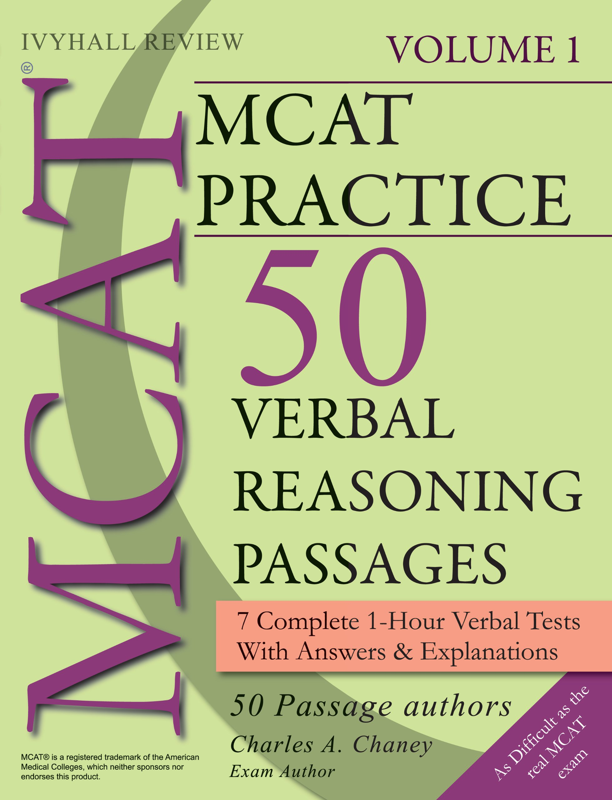 Download MCAT Practice Verbal Reasoning Passages: Full-Length Verbal Tests ebook