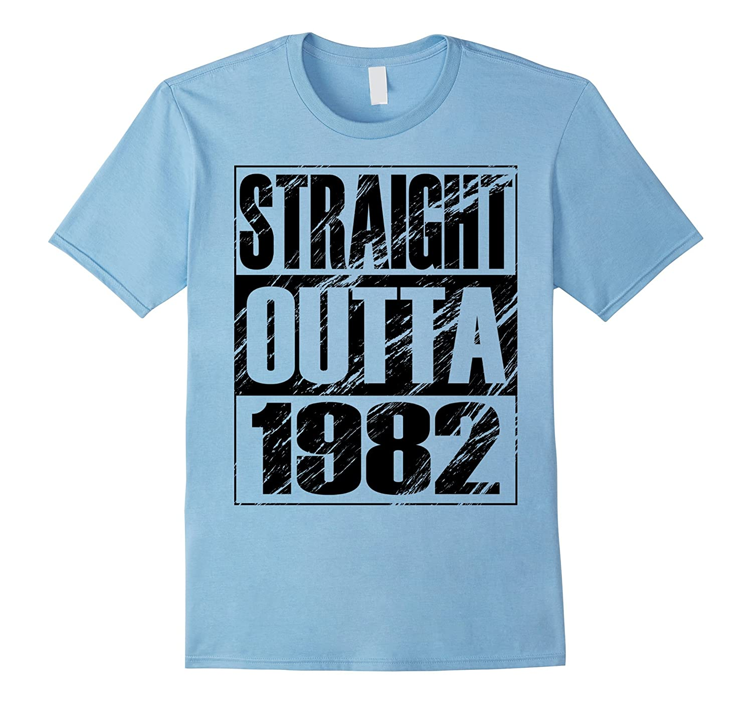 Funny Straight Outta 1982 35th Birthday T-shirt Vintage Gift-Art