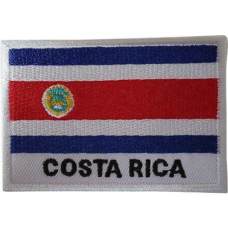 Costa Rica Bandera Parche hierro para coser en la ropa bordado Badge bordado Applique