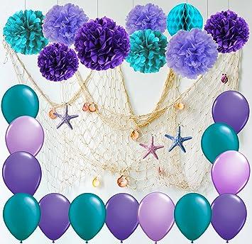 Amazon.com: Furuix - Decoración de fiesta de sirena con ...