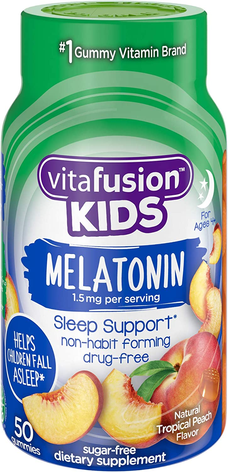 Vitafusion Kids Melatonin Gummy Vitamins, 50 count
