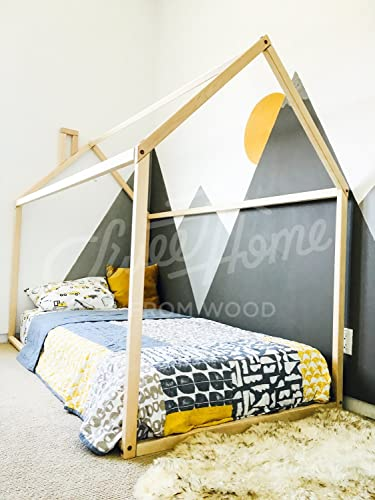 Toddler bed, House shaped bed, nursery wood house bed bed home ...
