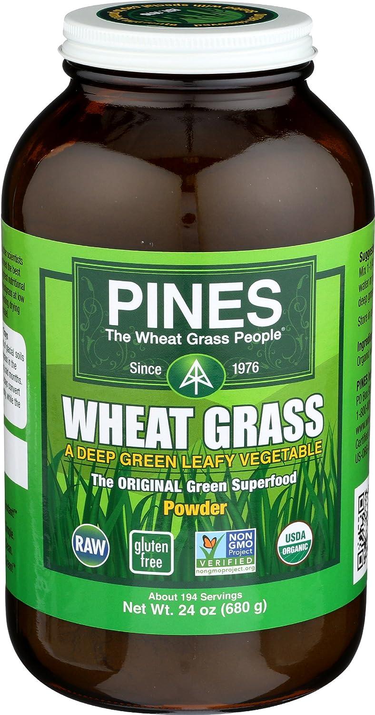 Pines Organic Wheat Grass Powder, 24 Ounce